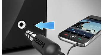 Аудиовход для удобного прослушивания музыки с портативных устройств