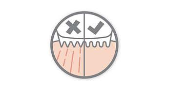 Закругленные лезвия и гребни предотвращают раздражение кожи