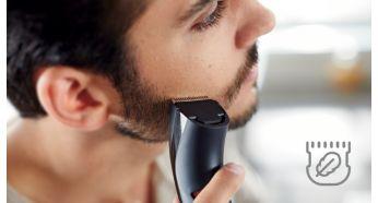 Тример для бороди та вусів Philips QT4005/15 - фото Закругленные края гладко скользят по коже