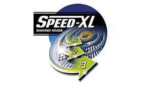 Бритвені головки Speed-XL для швидкого та ретельного гоління