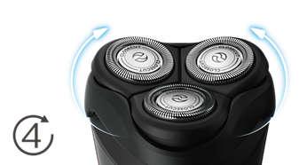 Электробритва Philips S1520/04 - фото Головки двигаются в 4направлениях, повторяя все контуры для гладкого бритья