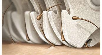 Эпилирующая головка выполнена из уникального керамического материала для лучшего захвата волосков