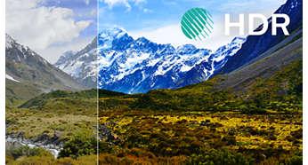 Улучшенная контрастность и цветопередача и высокая четкость изображения благодаря HDR Plus