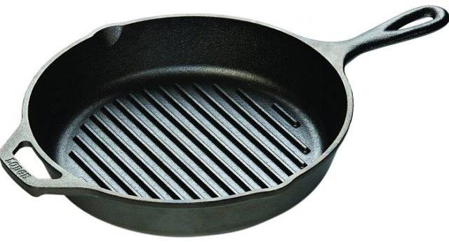 Сковороды гриль - фото Глубокие бортики с воронками
