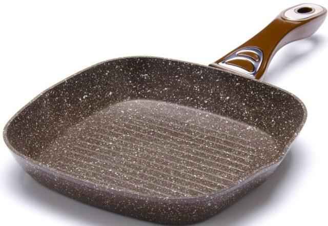 Сковороды гриль - фото Мраморное покрытите