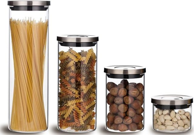 Емкости для хранения продуктов - фото Прозрачные