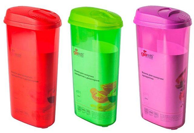 Емкости для хранения продуктов - фото Пластиковые