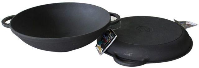 Cковороды (чугун) без покрытия - фото Крышка-сковорода