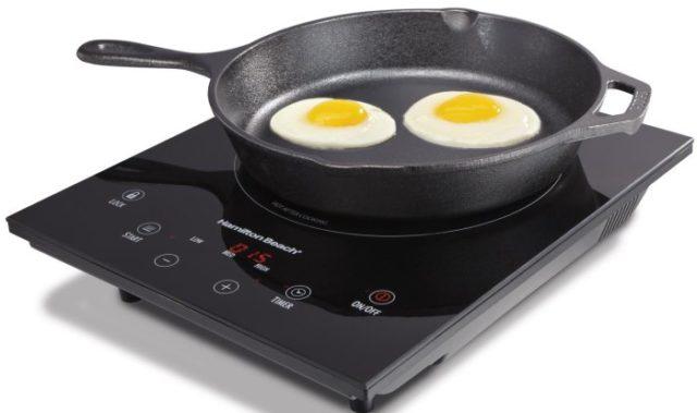 Cковороды (чугун) без покрытия - фото Индукционная плита