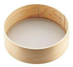 Сита, дуршлаги - фото сито для просеивания муки деревянное