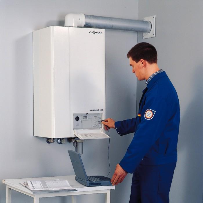 Монтаж газовых котлов. - фото монтаж котлов отопления газовых