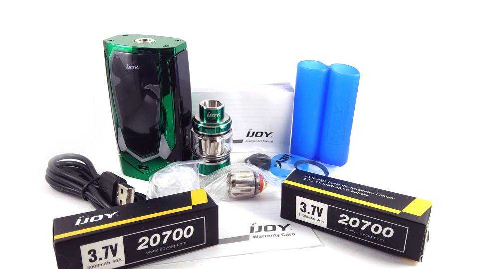 Обзор iJoy Avenger 270 Kit.Упаковка и комплектация