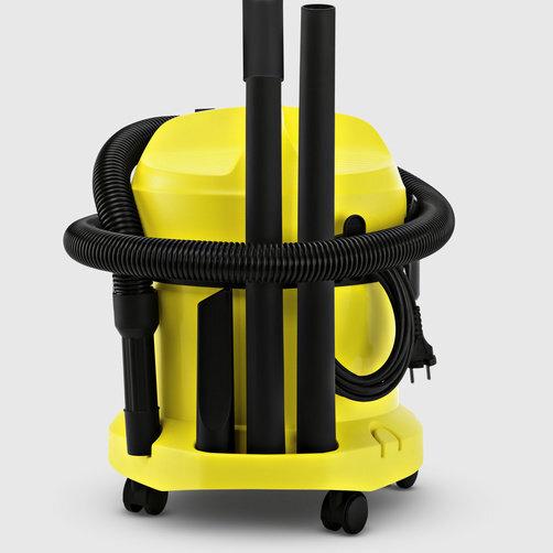 Господарський пилосос WD 2: Зручне і практичне зберігання кабелю і аксесуарів