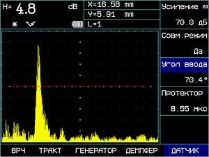 экран дефектоскопа УСД-50