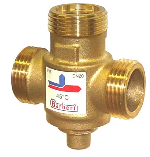 Термостатический смесительный клапан Barberi для твердотопливных котлов