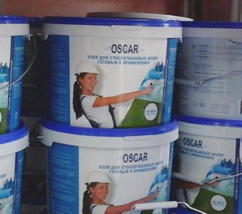 Клей для стеклообоев, стеклохолста и флизелина Oscar, ведро 5 л - фото Оскар клей
