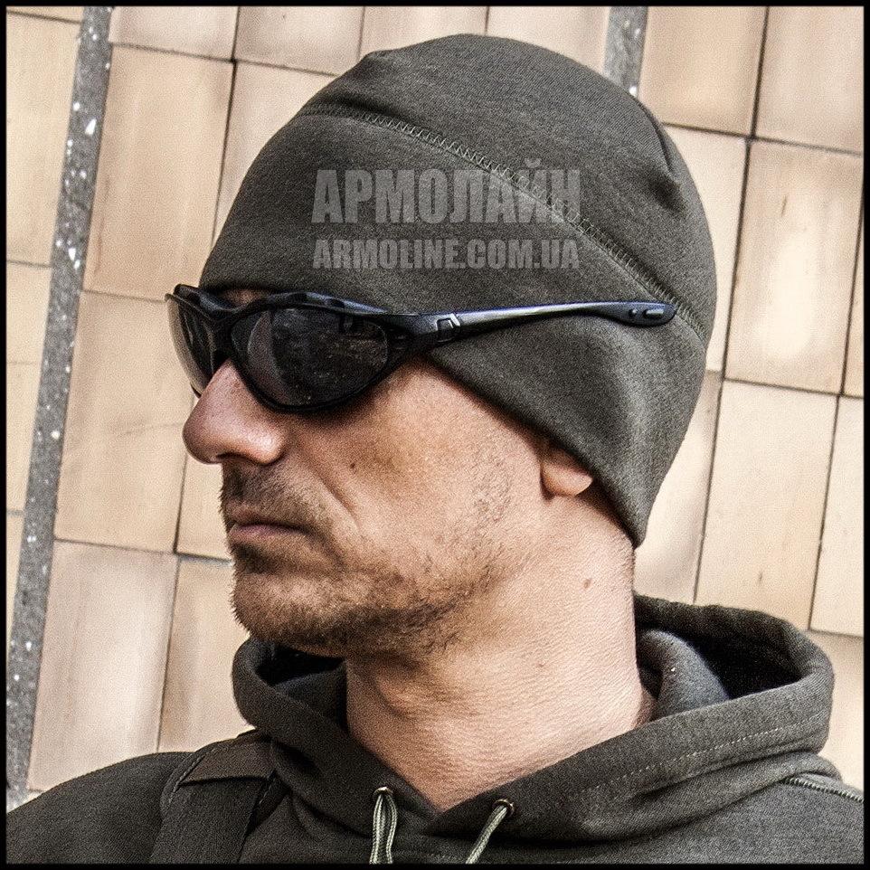 "Фирменная тонкая шапка  ""TACTICAL TIME"" Black - фото 1"