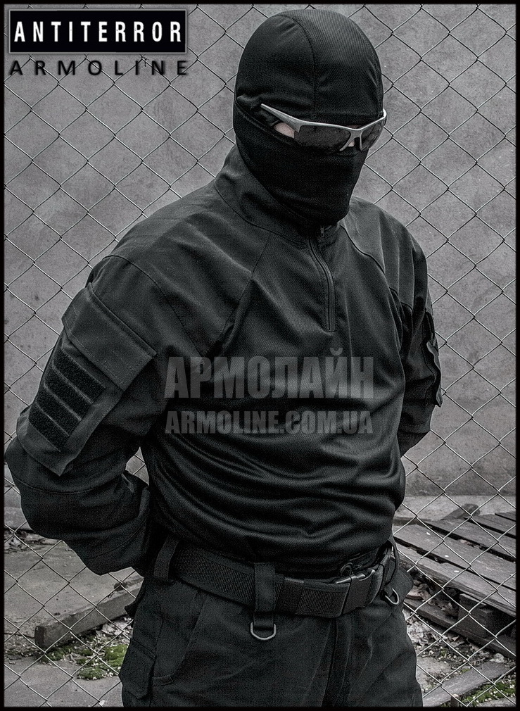 Рубашка UBACS тактическая (ANTITERROR) Black - фото 1