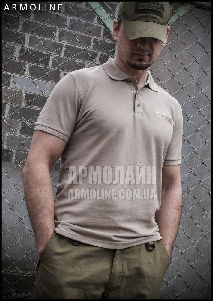 """Футболка-поло """"BLACKHAWK"""" Песочный - фото 1"""