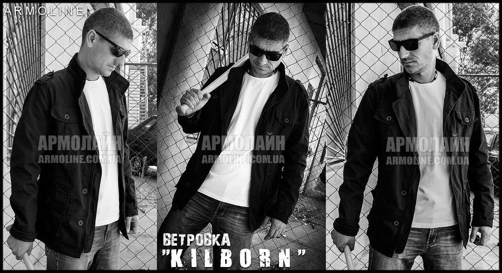 "Куртка милитари ""KILBORN"" BLACK Размеры S (44-46) - фото 1"