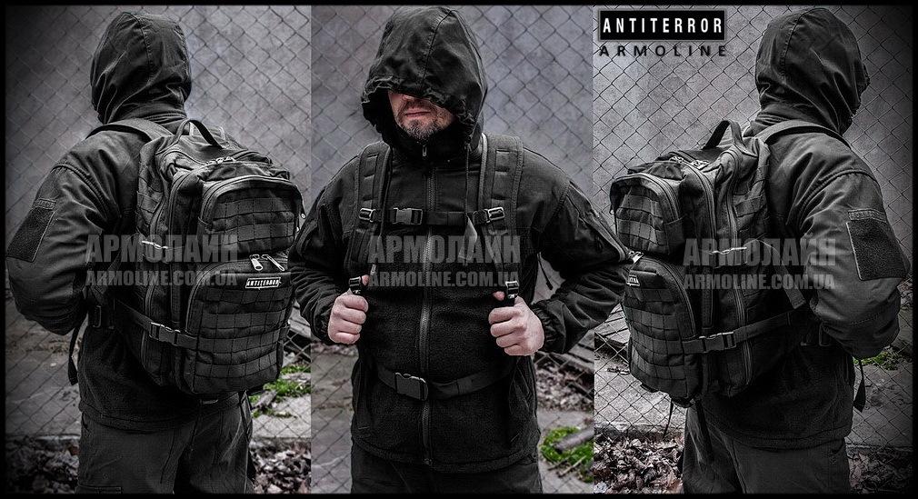 "Рюкзак ""ПАТРУЛЬ"" 35л  BLACK MULTICAM - фото 1"