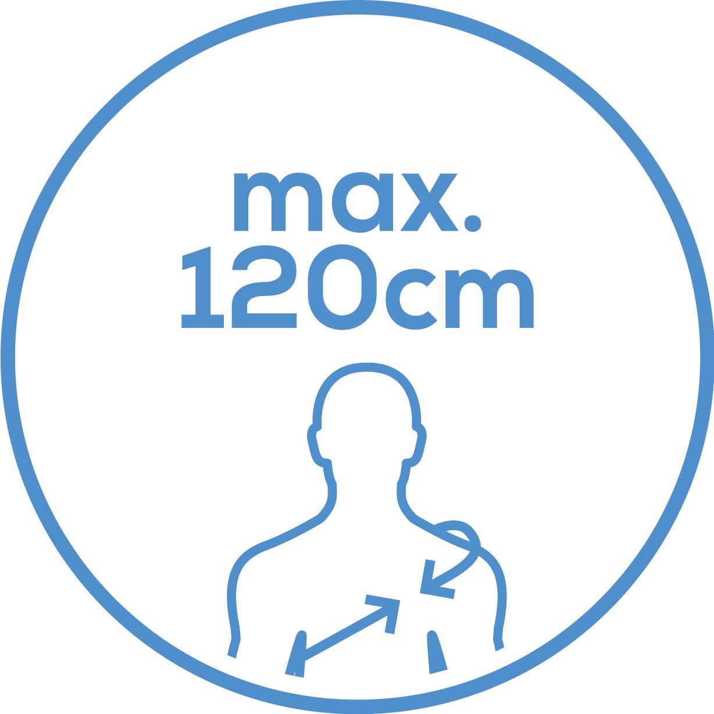 Рост Плечевая манжета подходит длядиагонального обхвата верхней части туловища прибл. 120см