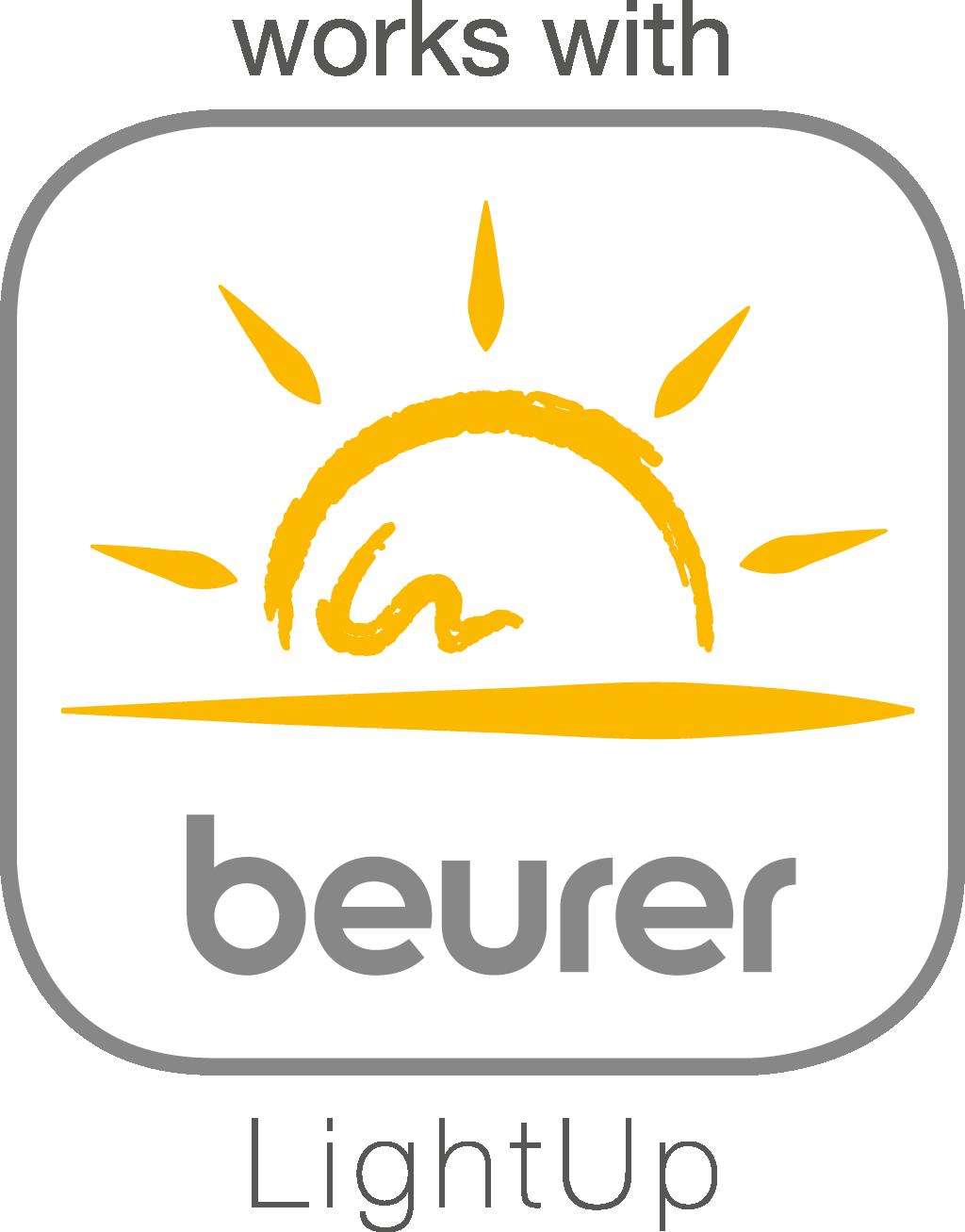 Работает сприложением beurer LightUp