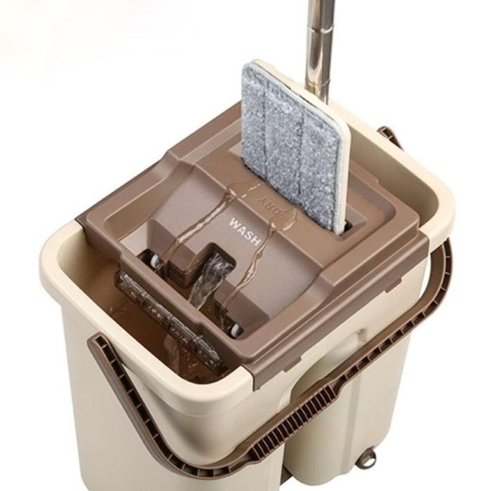 Комплект для уборки «Триумф» Flat Mop: чудо швабра, ведро с отжимом 8 литров