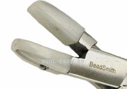 Шарнирно-губцевые инструменты - фото Плоскогубцы с полимерными губками (Bead Smith)