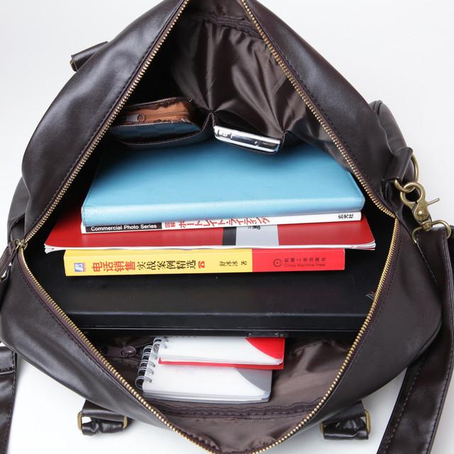 Стильная, модная, дорожная мужская сумка портфель. Сумка в дорогу. Повседневные сумки. Мода. Стиль. Код: КСЕ78 - фото 4
