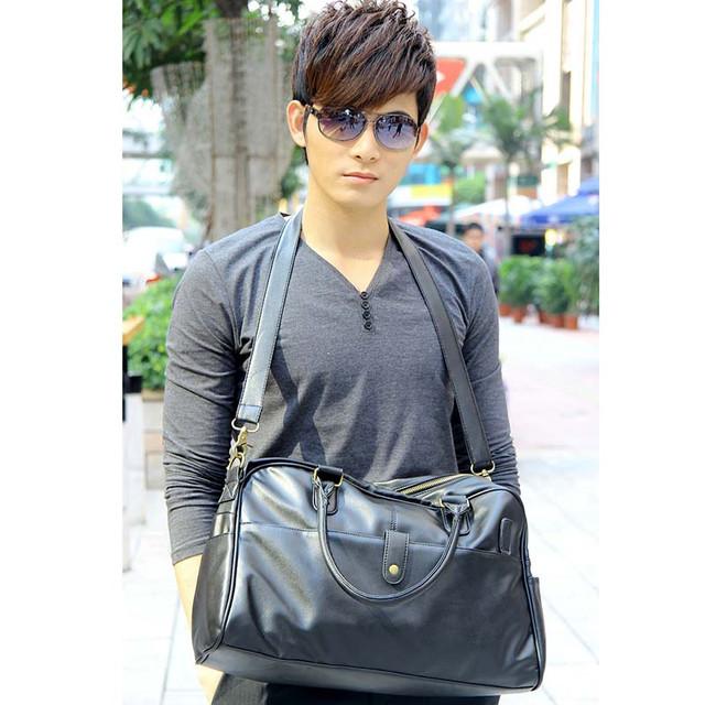 Стильная, модная, дорожная мужская сумка портфель. Сумка в дорогу. Повседневные сумки. Мода. Стиль. Код: КСЕ78 - фото 1