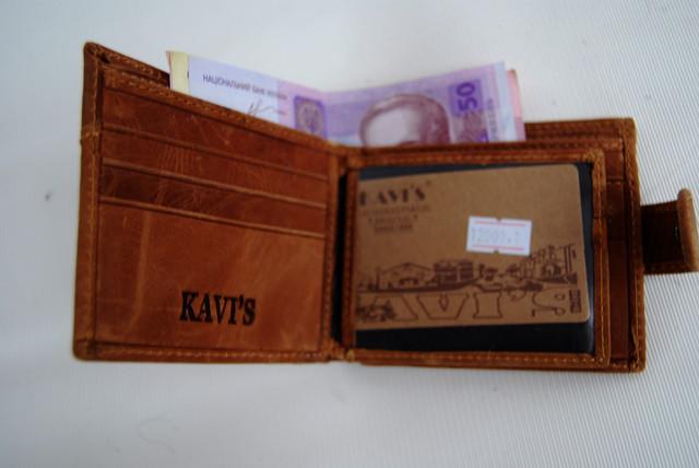 """Мужской кожаный кошелек, портмоне, бумажник KAVI""""S. Кошелек на подарок. Подарок для мужчин. НАТУРАЛЬНАЯ КОЖА! - фото 6"""