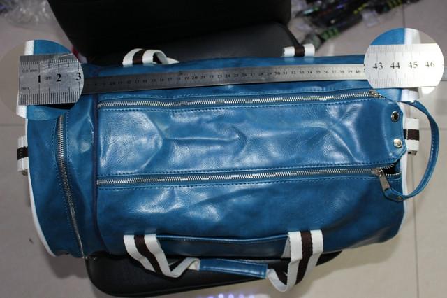 Спортивная сумка Fred Perry. Мужская сумка через плече. Сумка для спорта. Сумка мешок. Кожаная сумка. Код: КСС1 - фото 8