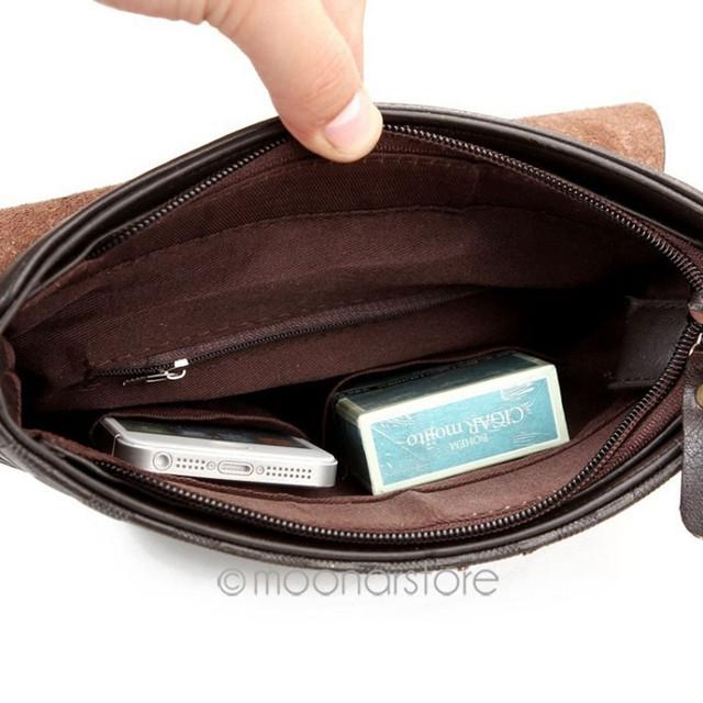 Молодежная Кожаная мужская сумка ПОЛО. Сумки для мужчин. Модные сумки. Бизнес сумки. Код: КСЕ47 - фото 3