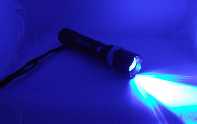 Тактический фонарик BL-T8626. Синий свет. Фонарь Bailong. Новинка. Анодированный алюминий. Код: КТМТ161 - фото 6