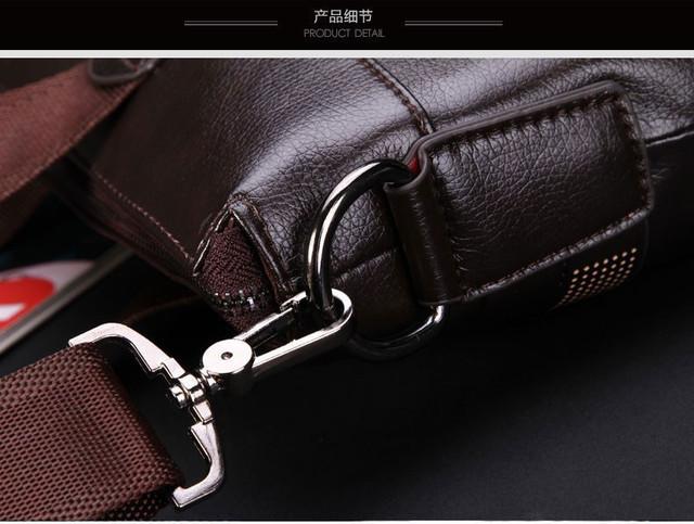 Мужская кожаная сумка Polo. Портфель. Бизнес сумка.  Высокое качество. Сумка через плече. Код: КС23. - фото 9