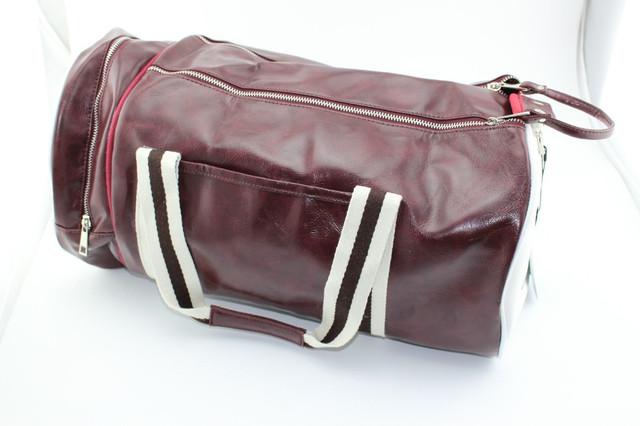 Спортивная сумка Fred Perry. Мужская сумка через плече. Сумка для спорта. Сумка мешок. Кожаная сумка. Код: КСС1 - фото 2