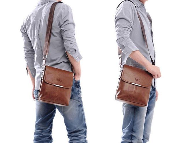 Мужская кожаная сумка POLO. Сумки кожаные. Кожанная cумка. Код: КС2-3 - фото 8