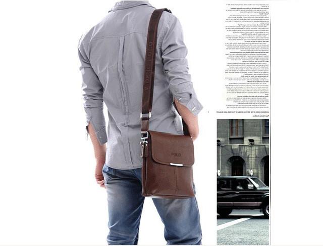 Мужская кожаная сумка POLO. Сумки кожаные. Кожанная cумка. Код: КС2-3 - фото 1