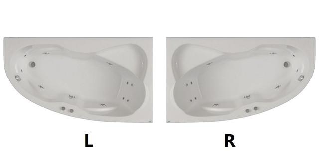 Ассиметричная акриловая ванна Fibrex Nicole 1700х1000х560 мм левосторонняя - фото 1