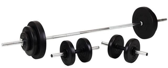 Гантели 2*21 кг + Штанга 90 кг (Комплект) - фото 1