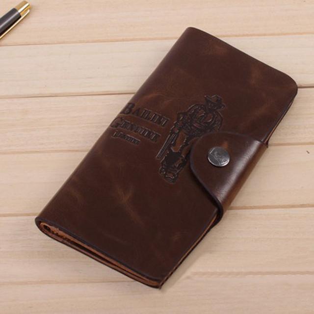 Хит продаж! Мужской кожаный кошелек, портмоне, бумажник. Кошельки для мужчин БАИЛИНИ. Лучший подарок. Код: КСЕ120 - фото 1