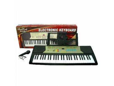 Пианино синтезатор SK 2028,  54 клавиши, 100 тонов и ритмов, микрофон - фото 1