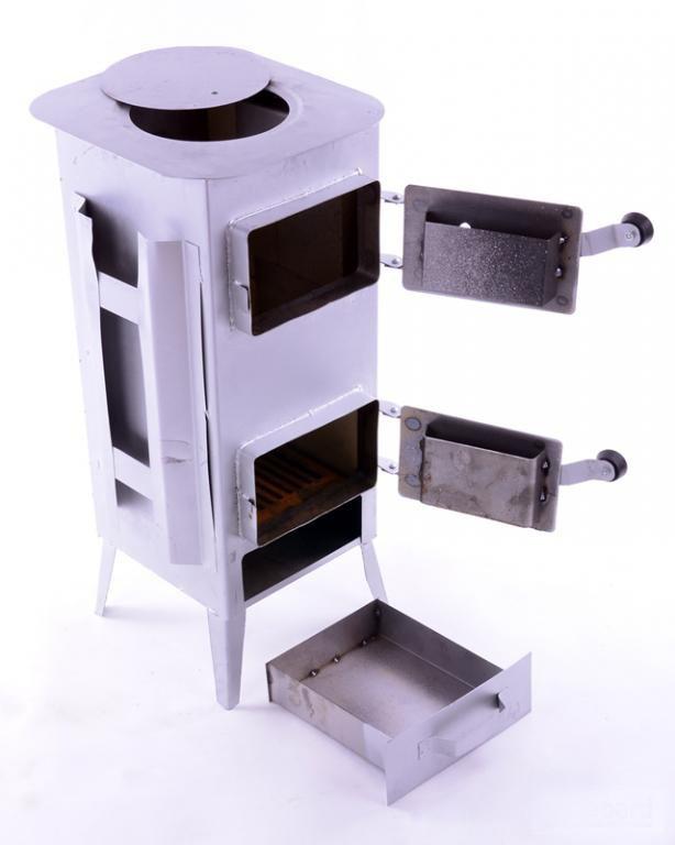 Печь буржуйка стальная 160 м2 7 шамотных кирпичей (шамотная піч стальна шамотної цегли) - фото 1