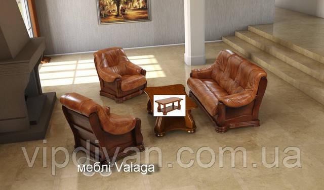 """Шкіряний диван на дубі """"ANDREA"""" - фото 1"""