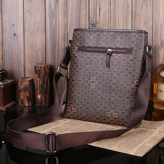 Мужская кожаная сумка. Высокое качество сумки. Удобная стильная сумка. Сумки через плече. Код: КС27-3 - фото 4