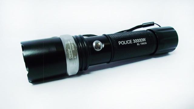 Тактический фонарик BL-T8626. Синий свет. Фонарь Bailong. Новинка. Анодированный алюминий. Код: КТМТ161 - фото 2