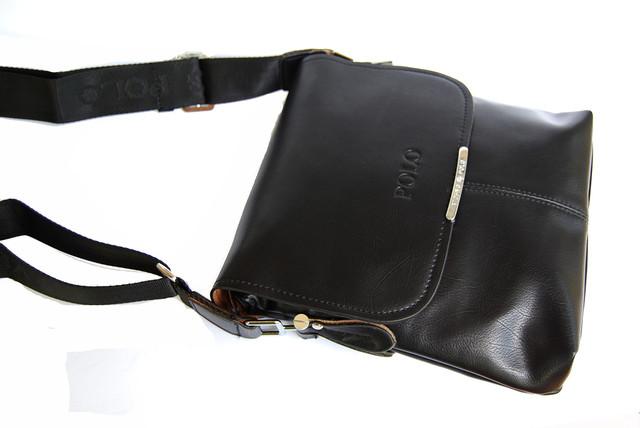 Хит продаж 2015г !! Стильная Мужская кожаная сумка ПОЛО. Кожаная сумка ПОЛ Сумка на подарок мужчине. Код: КСЕ99 - фото 7