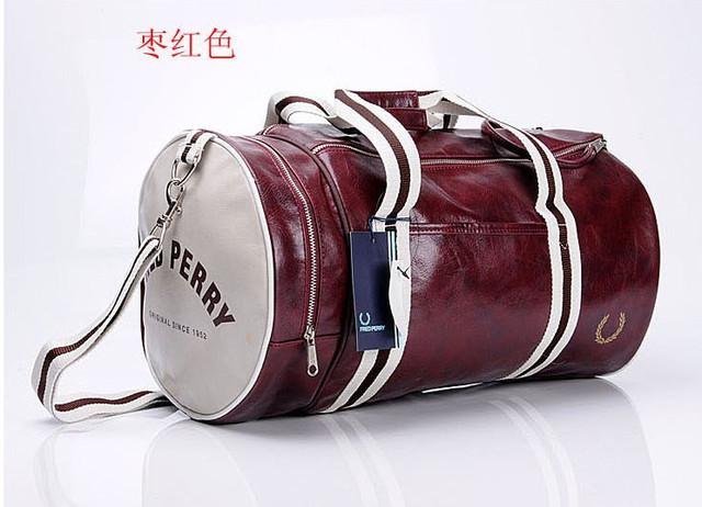 Спортивная сумка Fred Perry. Мужская сумка через плече. Сумка для спорта. Сумка мешок. Кожаная сумка. Код: КСС1-1 - фото 5