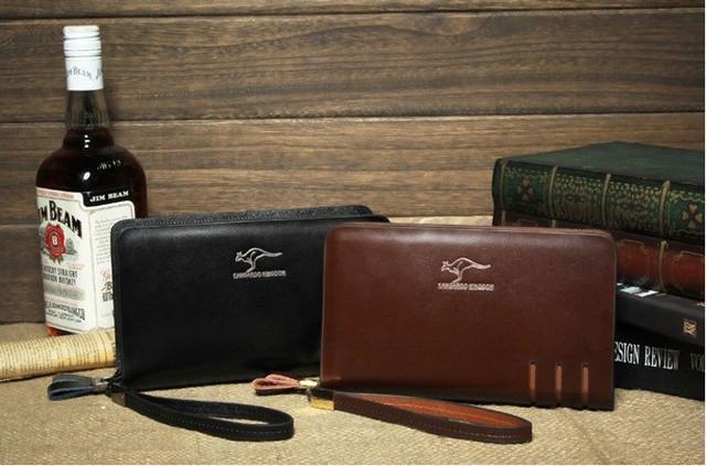 Стильный клатч KANGAROO KINGDOM. Недорогое кожаное портмоне. Практичный клатч. Код: КС30 - фото 7